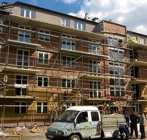 Housing complex Belgium town 2015