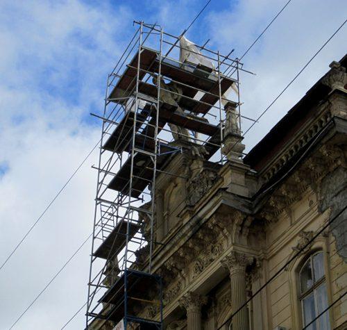 """Restoration of the """"Mercury"""" status in l'viv, 2012"""