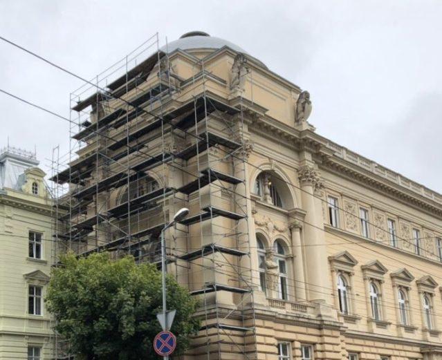 Main building of LNU. I.Franko str. University, 1, Lviv, 2019